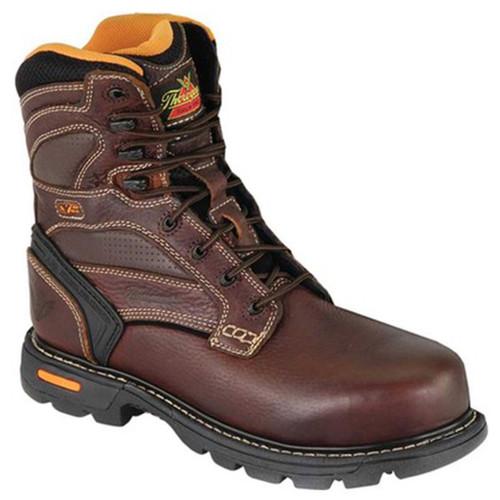 "Thorogood Mens Gen Flex2 8"" Composite Safety Plain Toe Brown Boots 804-4448"