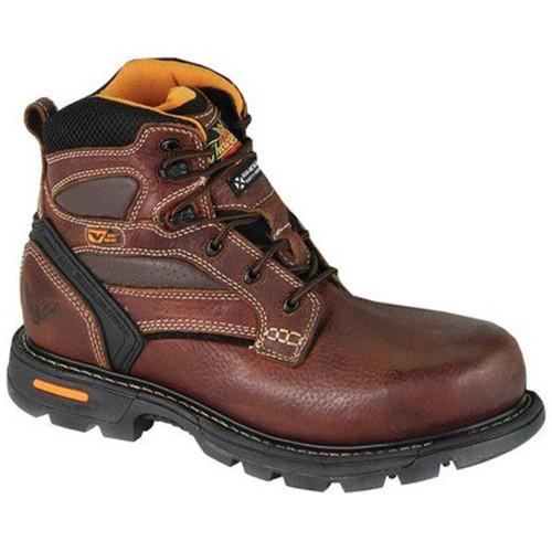 "Thorogood Mens Gen Flex2 6"" Composite Safety Plain Toe Brown Boots 804-4446"