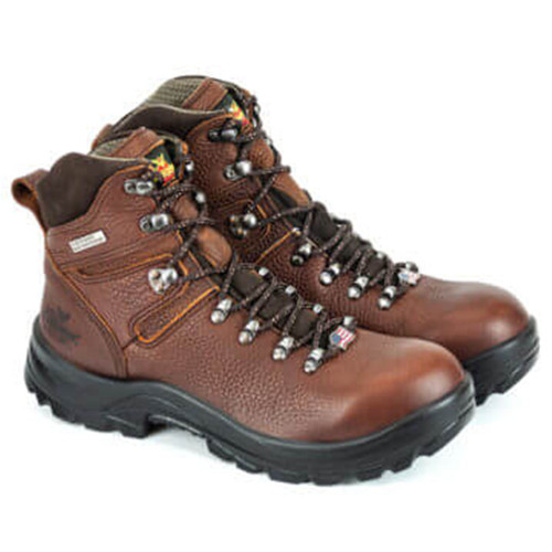 "Thorogood Mens Omni Series Waterproof 6"" Brown Safety Toe Boots 804-3266"