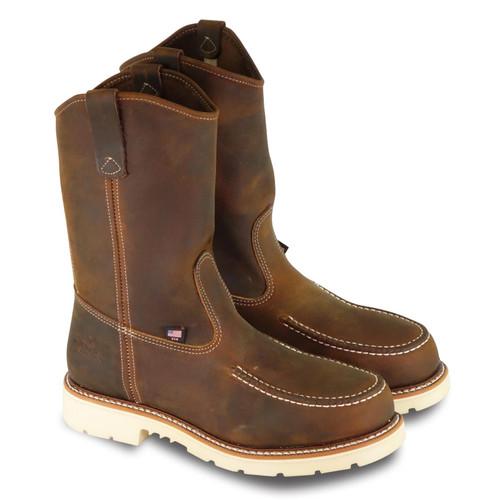 "Thorogood Mens AH 11"" Trail Crazyhorse ST MOC Toe Wellington Boots 804-3311"