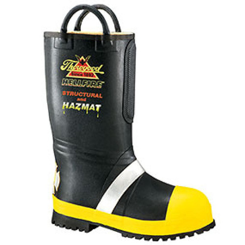 """Thorogood Womens Hellfire 14"""" Insulated Rubber Bunker Black Boots 507-6000"""