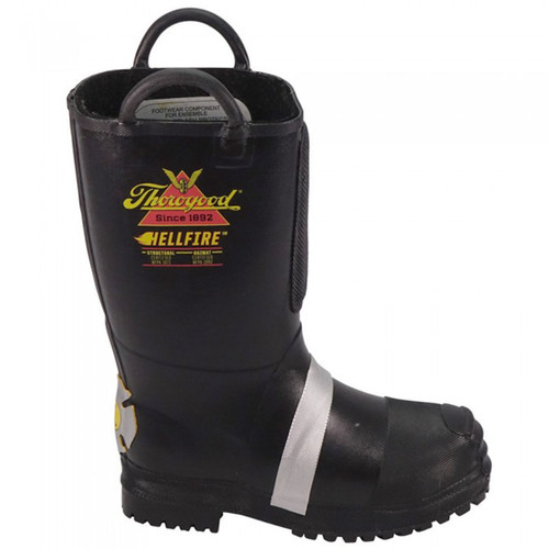 """Thorogood Womens Hellfire 14"""" Insulated Rubber Bunker Black Boots 507-6003"""