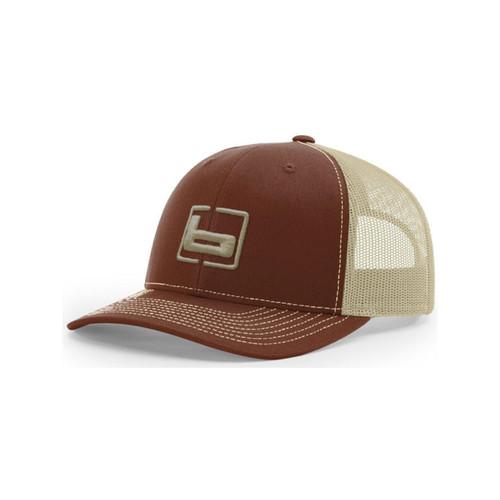Banded R112 Trucker Caps, Brown/Khaki