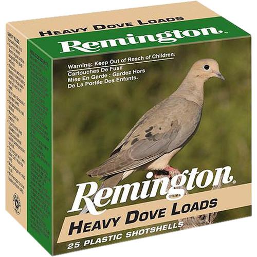 """Remington Heavy Dove Loads 20 Gauge Ammunition 2-3/4"""" Shell #7.5 Lead Shot 1oz 25 Rounds"""