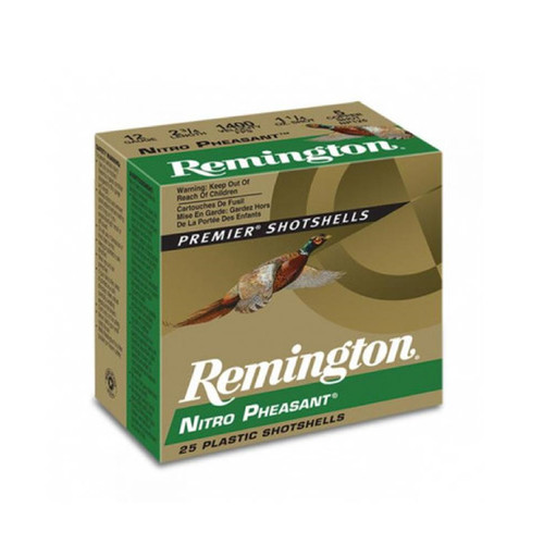 Remington Nitro Pheasant Copper-plated Shotshells 20ga 3 in 1-1/4 oz Max dr 1185 fps #5 25 Rounds