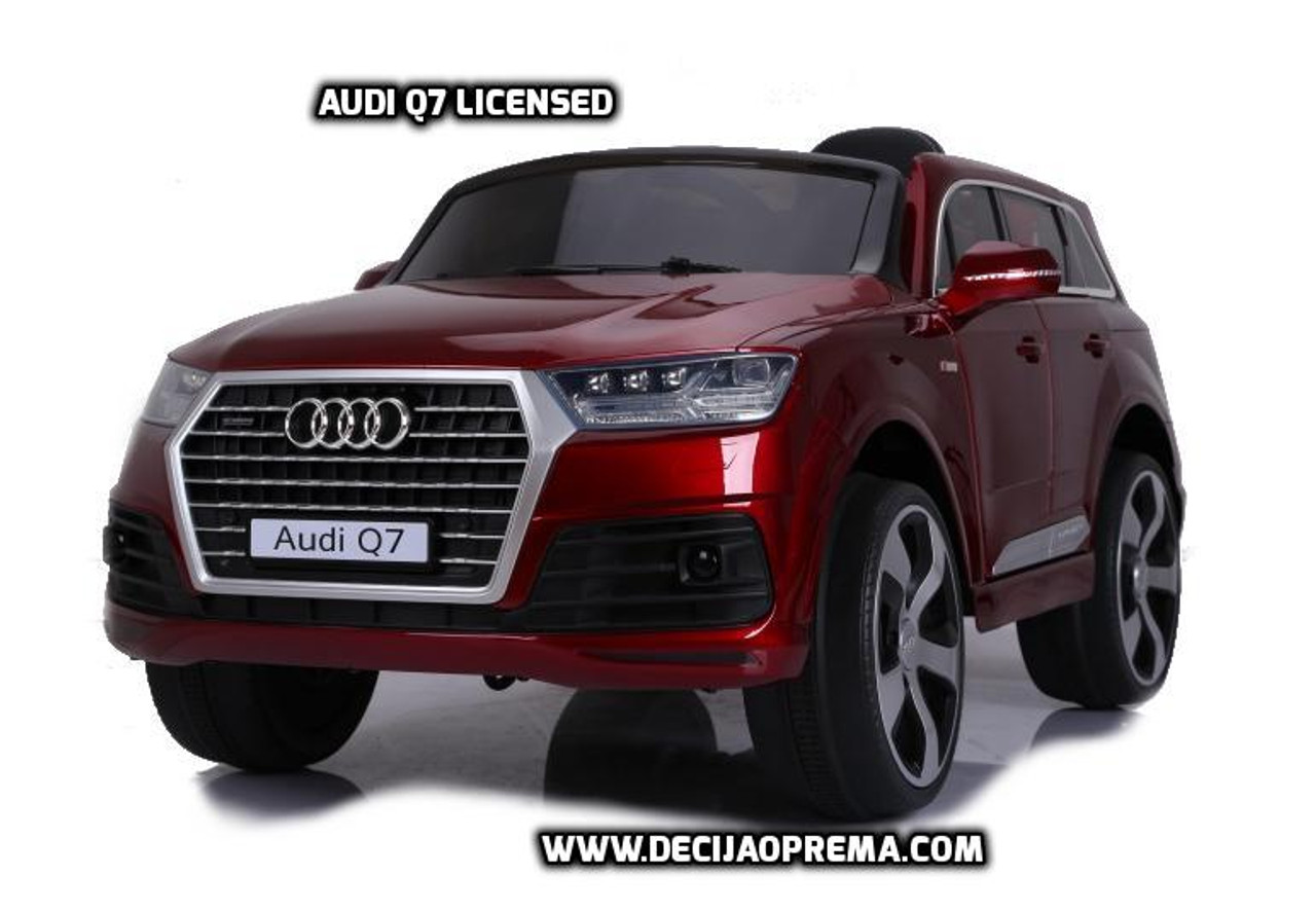Audi Q7 Licensed na akumulator za decu Bordo Full oprema