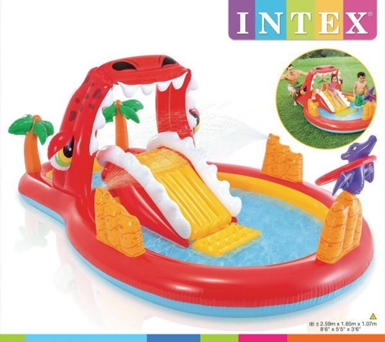 Bazen Igraonica Happy Dino INTEX 57160
