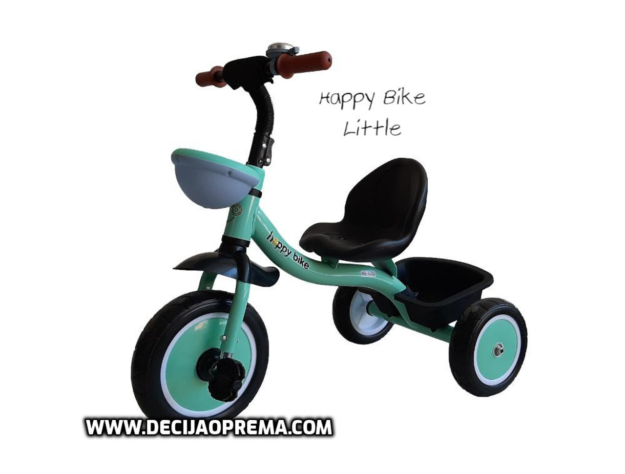 Tricikl Happy Bike Little za decu Zeleni