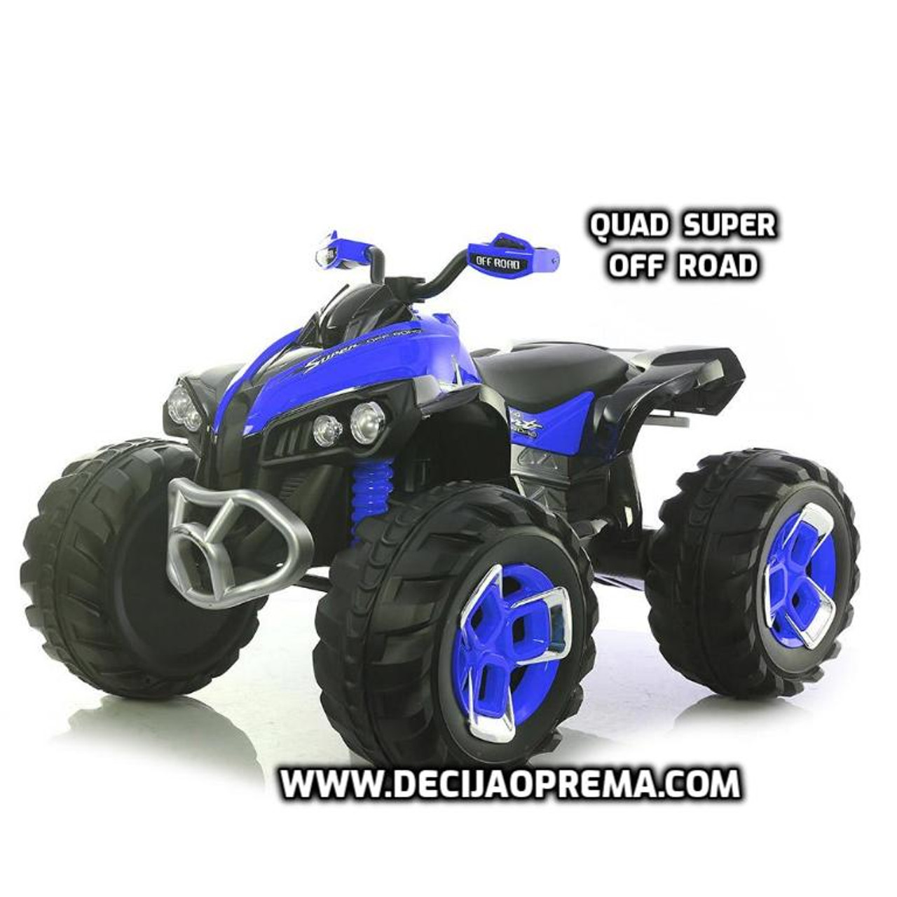 Quad Super Off Road na akumulator za decu Plavi