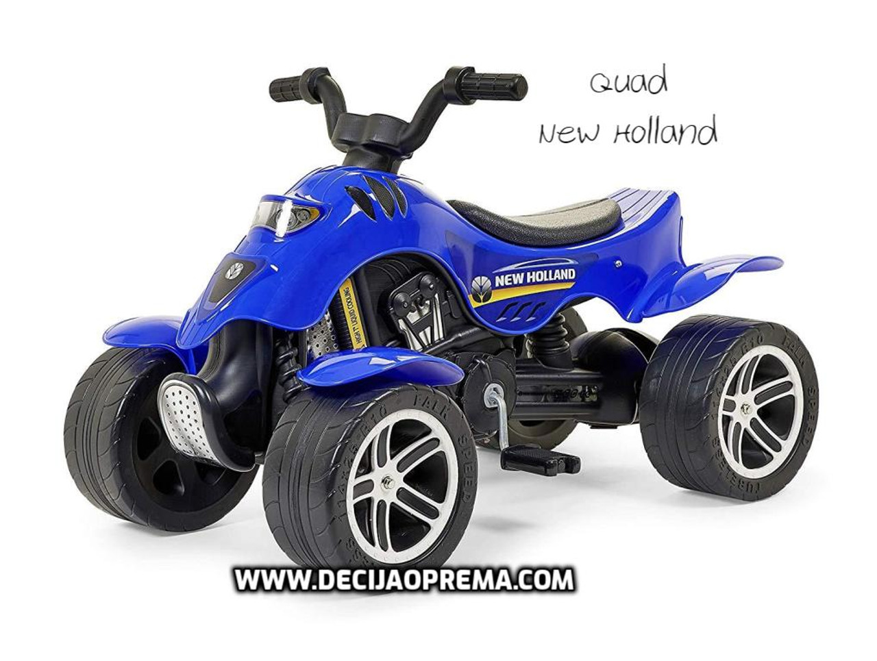 Quad New Holland na pedale
