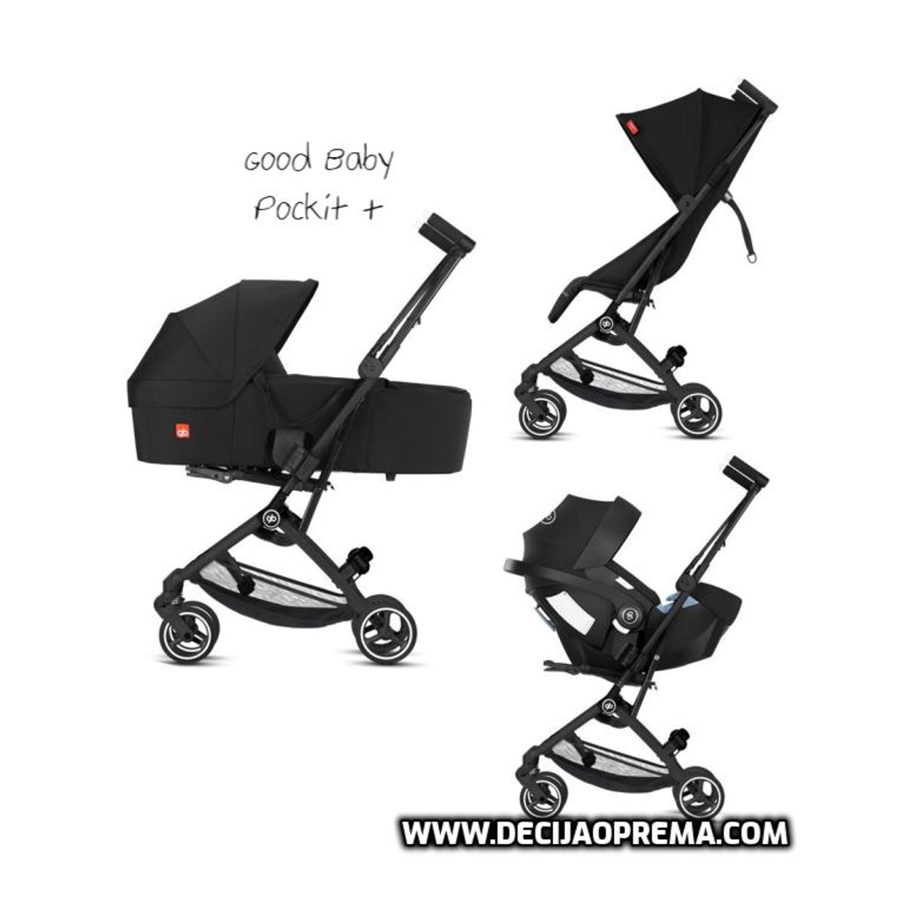 Kolica za bebe GB Pockit+ All city velvet black