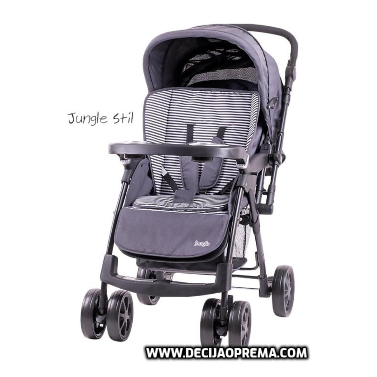 Kolica za bebe Jungle Stil Dark Grey