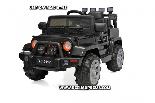JEEP Off-Road Style Auto na akumulator Crni