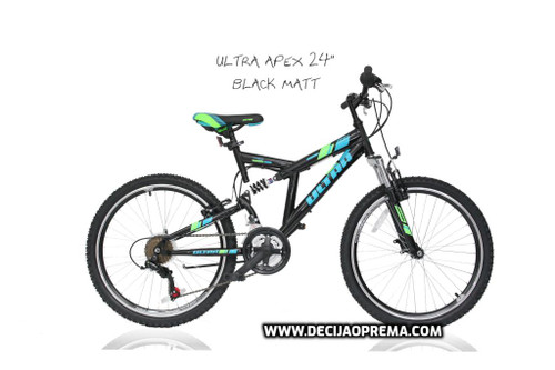 "Bicikl Ultra Apex 24"" Black Matt"