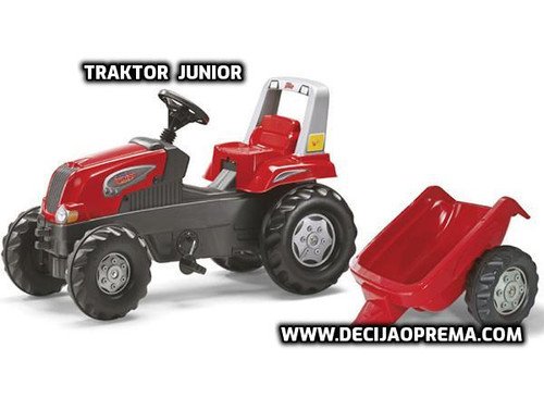 Traktor Rolly Toys Junior sa  prikolicom