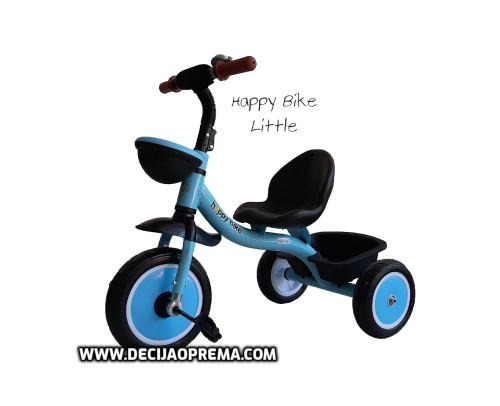 Tricikl Happy Bike Little za decu Plavi