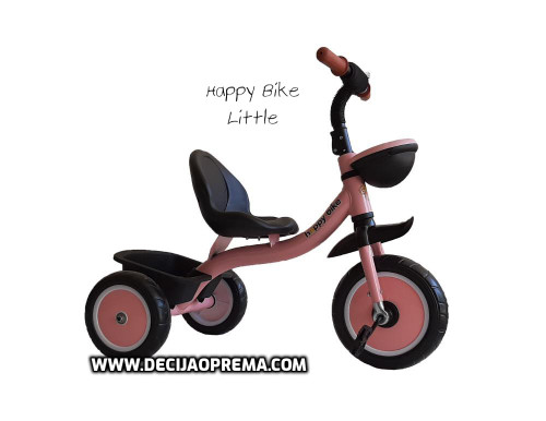 Tricikl Happy Bike Little za decu Rozi