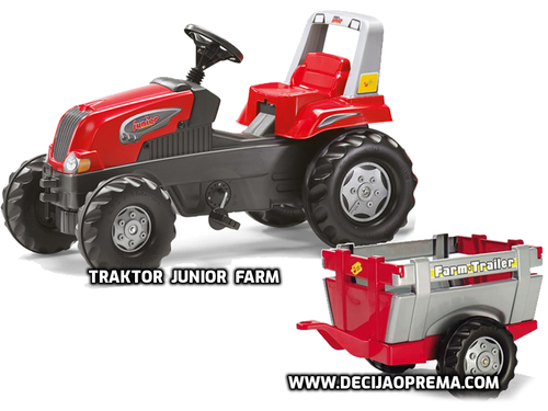 Traktor Rolly Toys Junior Farm sa prikolicom