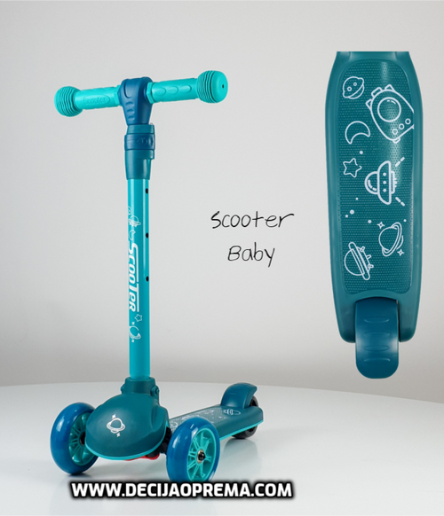 Trotinet Scooter Baby Zeleni