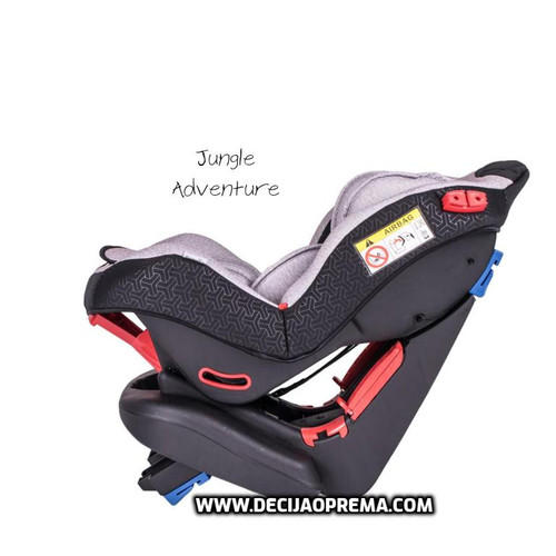 Auto Sedište Adventure 0-25kg Jungle Black Grey