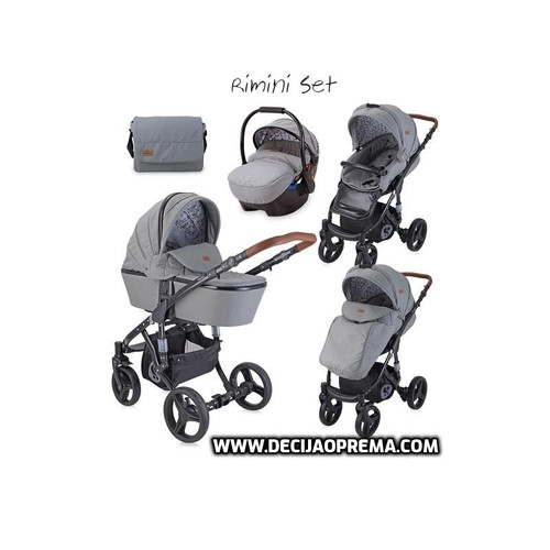 Kolica Rimini Set Lorelli Bertoni Dark Grey&Black Lighthouse
