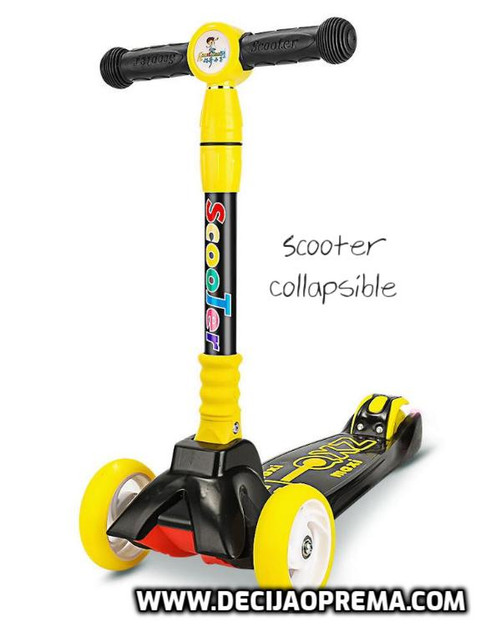 Trotinet Scooter Collapsible Žuti
