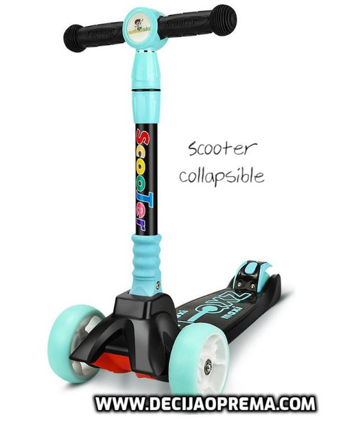 Trotinet Scooter Collapsible Plavi