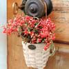 Peterboro Holiday Doorknob Basket