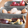 Peterboro Vegetable & Fruit Center Set of Three Baskets