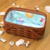 Peterboro Seashell Shopper Basket