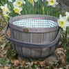 Peterboro New England One Peck Basket with Mint Green Liner