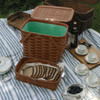 Peterboro Twice-as-Good 1930s Reproduction Picnic Basket in Cherry and Green