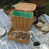 Peterboro Twice-as-Good 1930s Reproduction Picnic Basket in Honey and Green