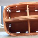 Hardwood base on the inside