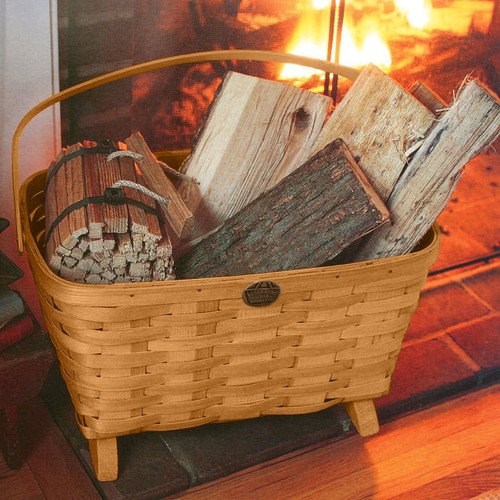 Peterboro Large Magazine & Fireside Storage Basket