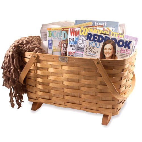 Peterboro Traditional Chair Side Storage Basket