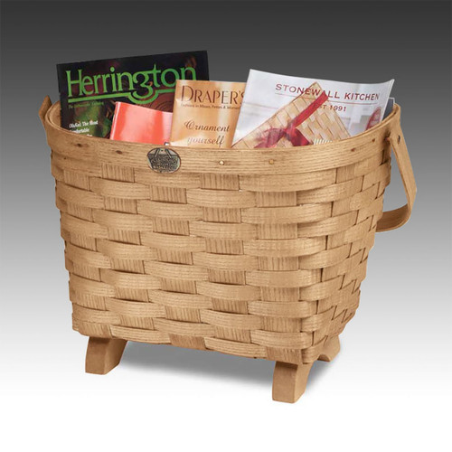 Peterboro Chairside Basket with Swing Handle