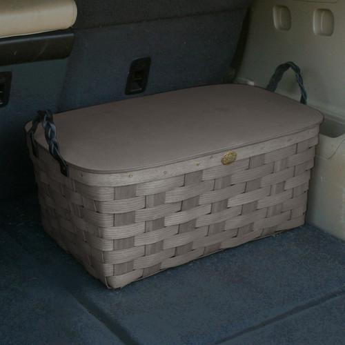 Peterboro Deluxe Storage Basket with Lid