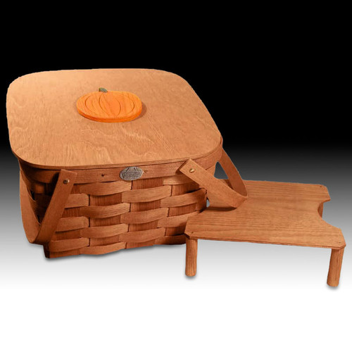 Peterboro Double Pumpkin Pie Basket with Tray