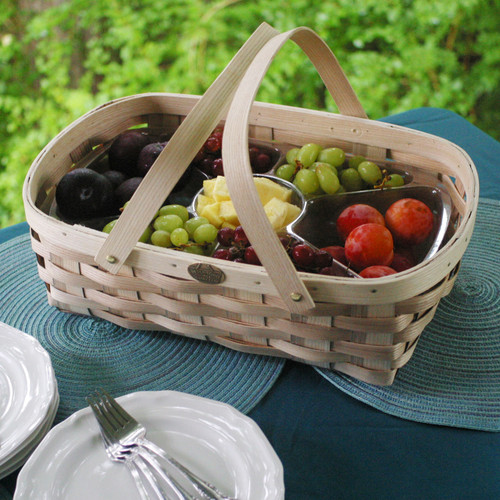 Peterboro 7-Section Oval Server Basket