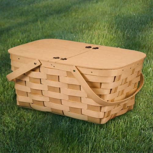 Peterboro Deluxe Twin-Split Picnic and Storage Basket