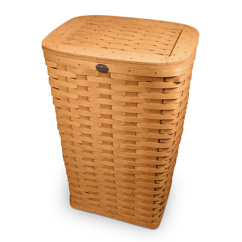 Peterboro Tall Laundry Hamper with Woven Lid