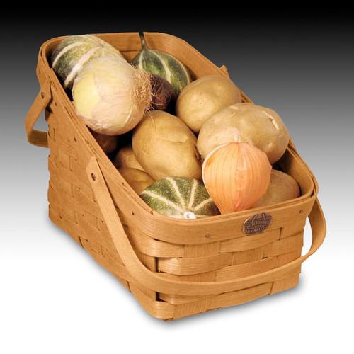 Peterboro Kitchen Veggie Basket with Two Swing Handles