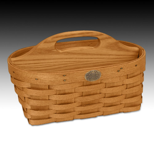 Peterboro Oval Work Basket with Divider