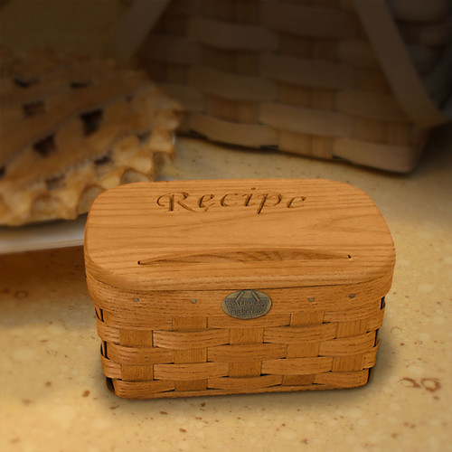Peterboro Recipe Card Holder Basket