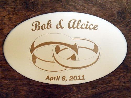 Peterboro Personalized Wedding Rings Picnic Basket