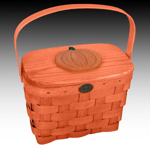 Peterboro Deluxe Sugar Pumpkin Tote Basket