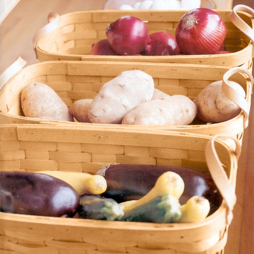 Peterboro Vegetable & Fruit Center Set of 3 Baskets