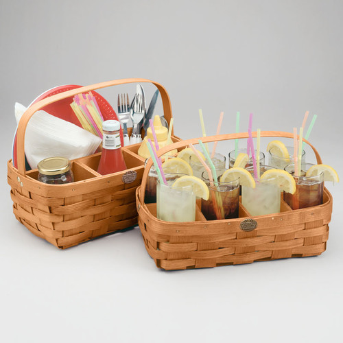 Peterboro Dual Tabletop Basket Server Set