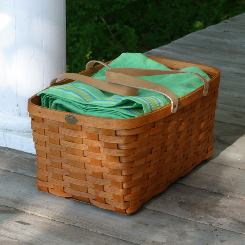 Peterboro Rectangle One-Hand Householder Basket